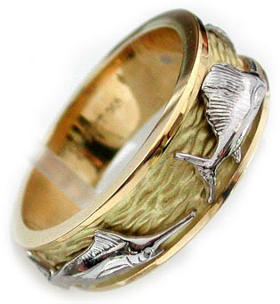sea life jewelry like this 18kt and platinum grand slam ring